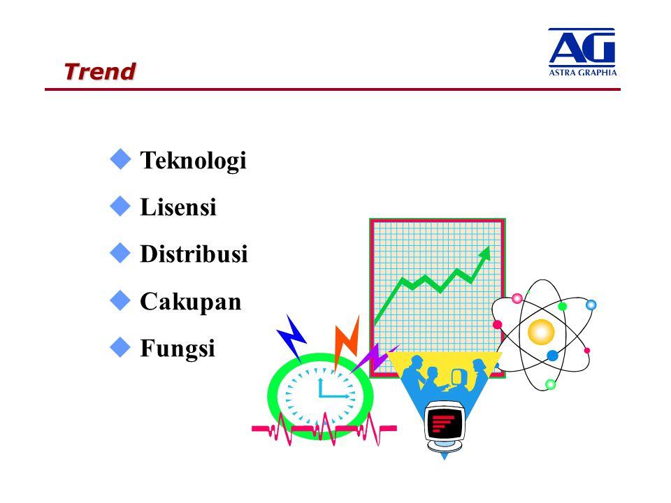 Trend u Teknologi u Lisensi u Distribusi u Cakupan u Fungsi