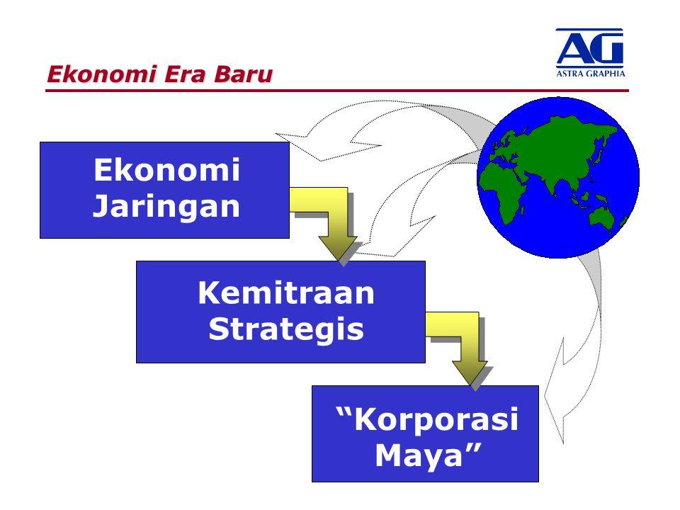 """Ekonomi Era Baru Kemitraan Strategis Ekonomi Jaringan """"Korporasi Maya"""""""