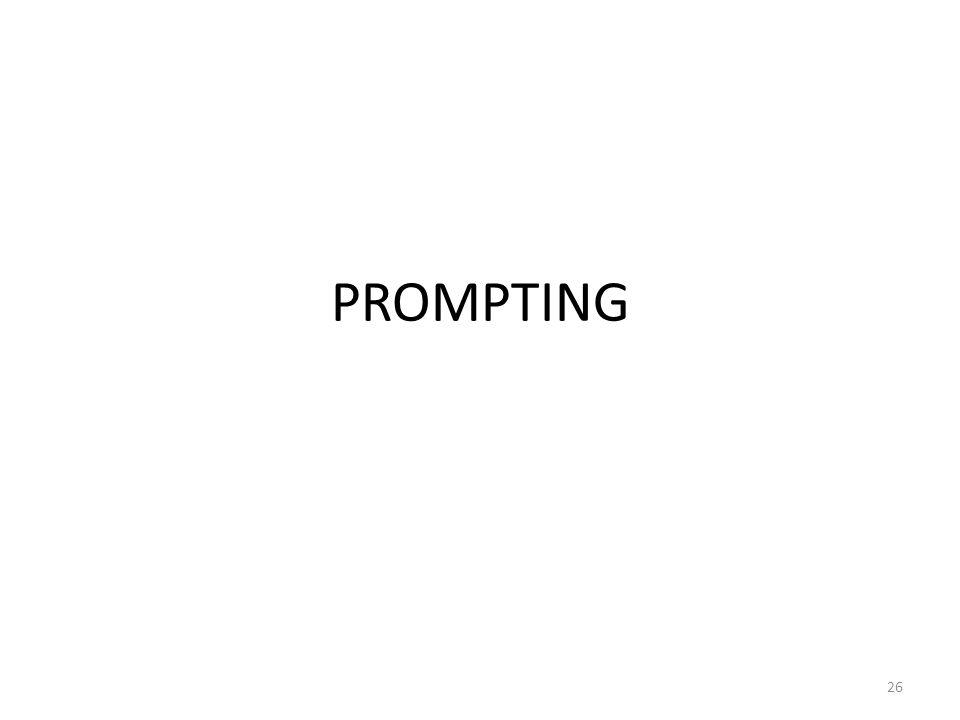 PROMPTING 26