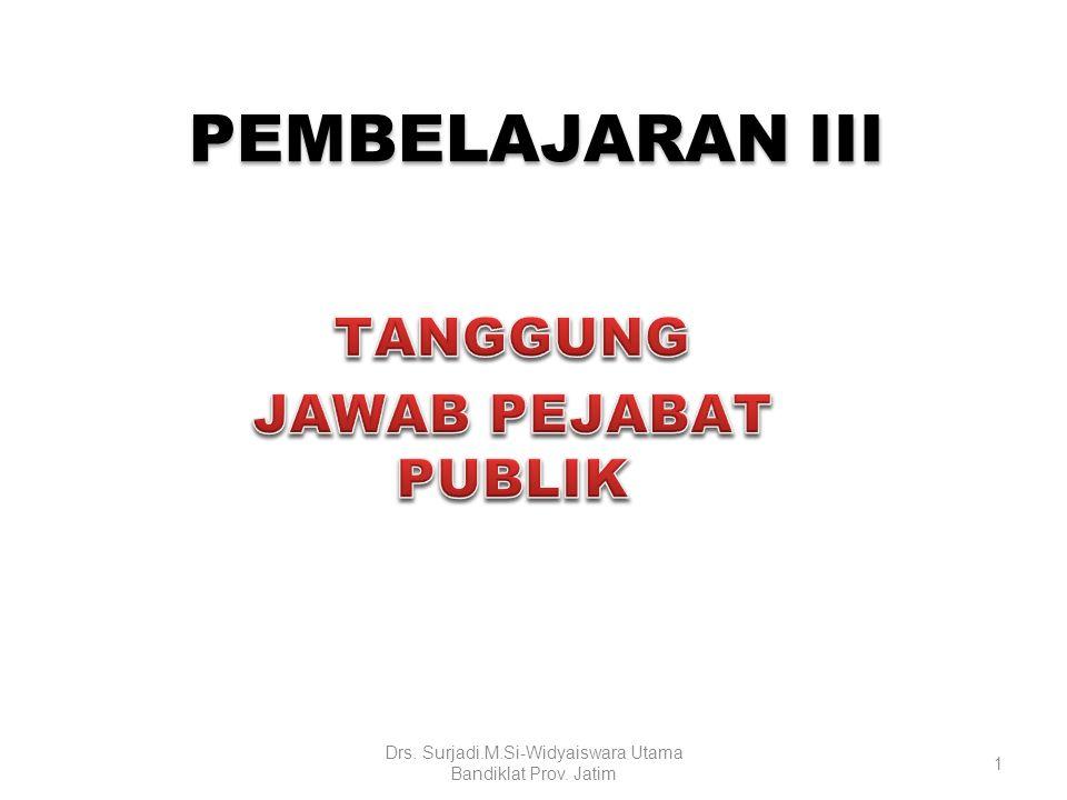 PEMBELAJARAN III PEMBELAJARAN III 1 Drs. Surjadi.M.Si-Widyaiswara Utama Bandiklat Prov. Jatim