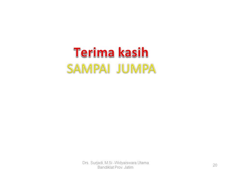 20 Drs. Surjadi, M.Si -Widyaiswara Utama Bandiklat Prov. Jatim