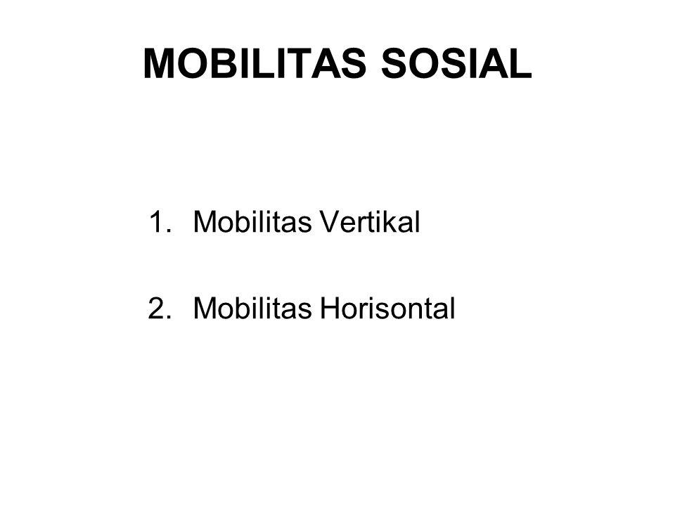 MOBILITAS SOSIAL 1.Mobilitas Vertikal 2.Mobilitas Horisontal