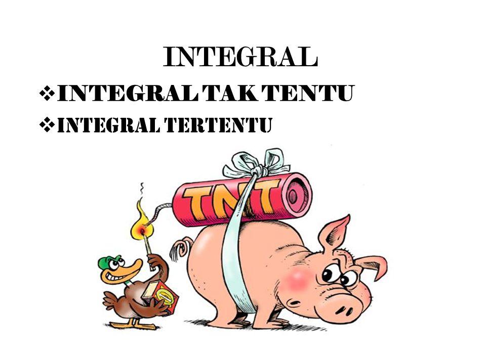 INTEGRAL  INTEGRAL TAK TENTU  INTEGRAL TERTENTU
