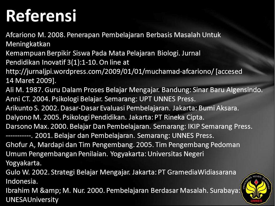 Referensi Afcariono M.2008.
