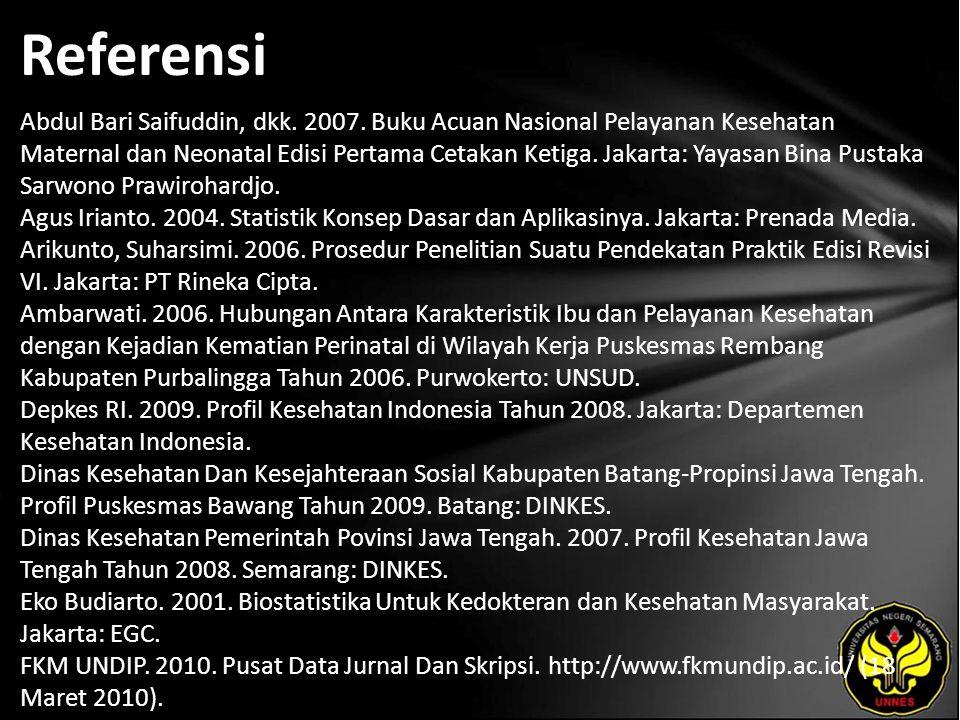 Referensi Abdul Bari Saifuddin, dkk. 2007.