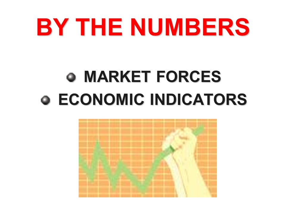 BY THE NUMBERS MARKET FORCES ECONOMIC INDICATORS