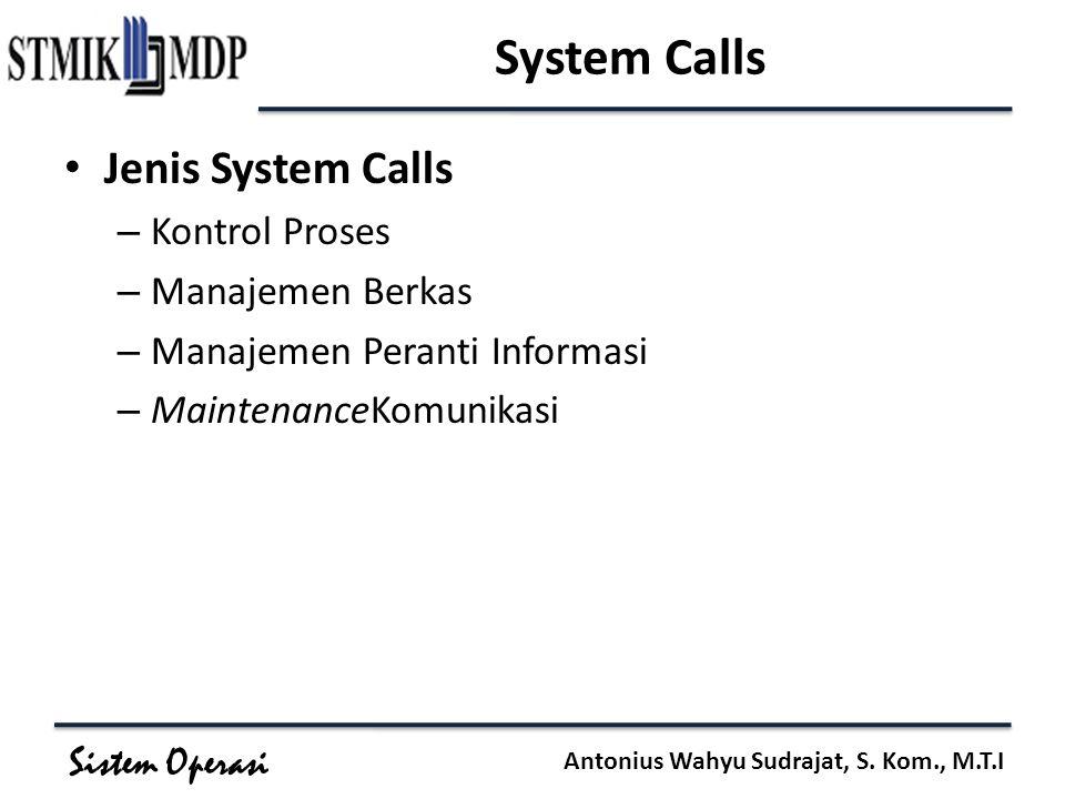 Sistem Operasi Antonius Wahyu Sudrajat, S.