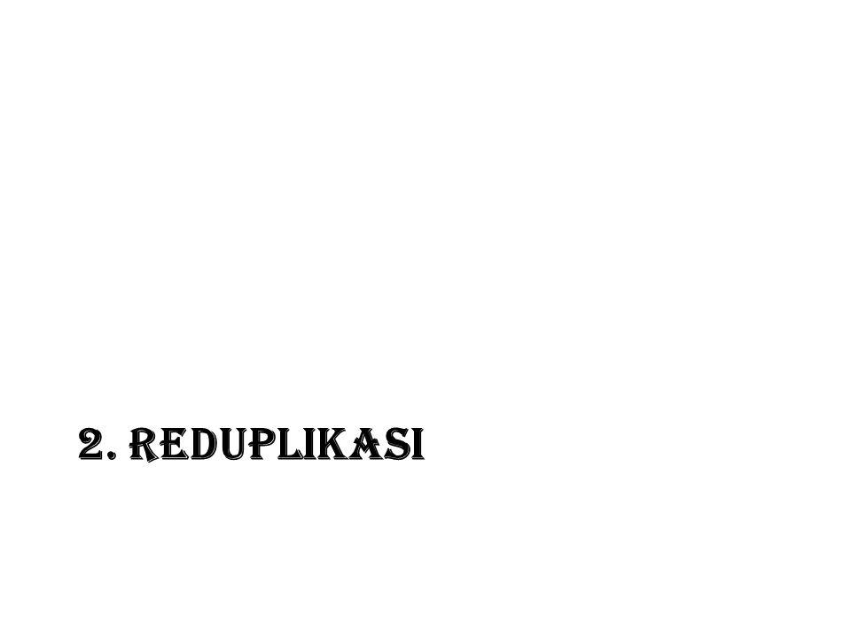 2. REDUPLIKASI