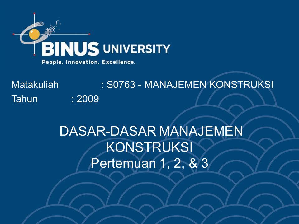 Bina Nusantara University 3 PENGERTIAN MANAJEMEN MANAJEMEN ADALAH SUATU PROSES/ KEGIATAN/ USAHA MENGELOLA SUMBER DAYA UNTUK PENCAPAIAN TUJUAN TERTENTU MELALUI KERJA SAMA DENGAN ORANG-ORANG/ LEMBAGA LAIN