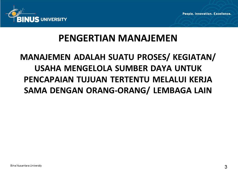 Bina Nusantara University 24 MODEL 2