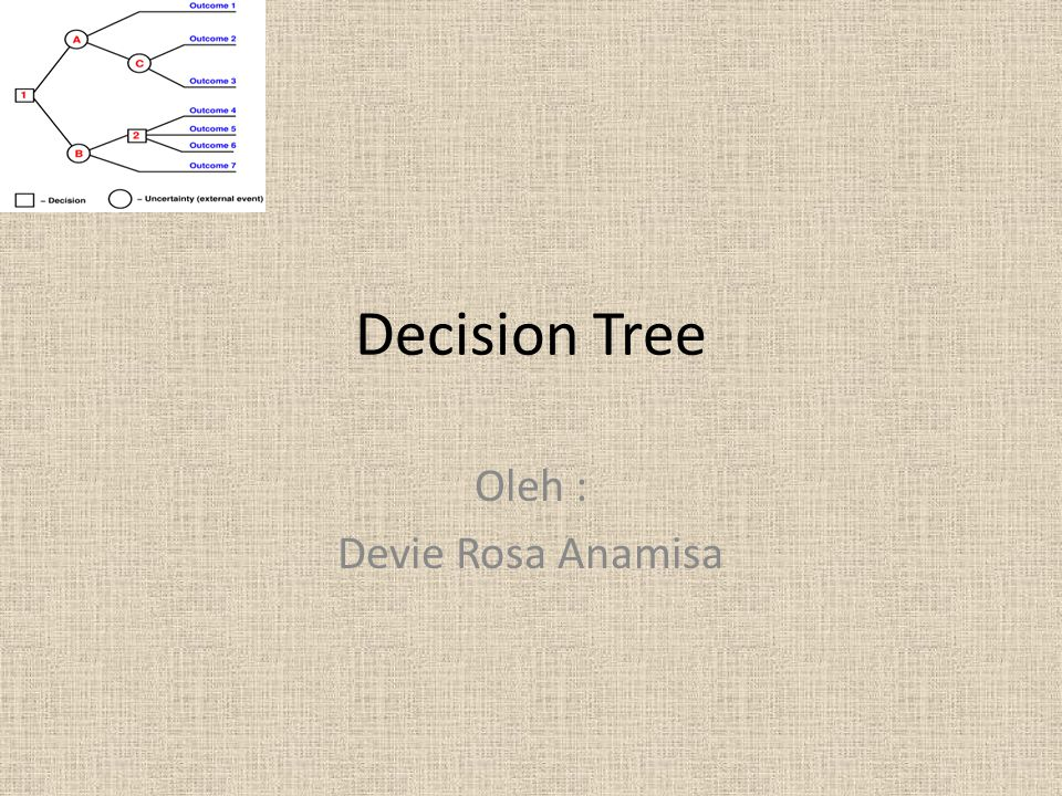 Decision Tree Oleh : Devie Rosa Anamisa