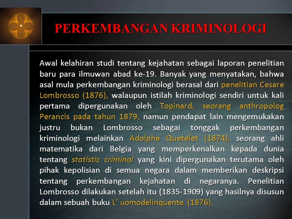 Apa Hubungan Statistic Criminal dengan Tujuan Mempelajari Kriminologi.