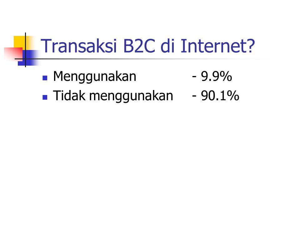 Mengapa tidak transaksi B2C.