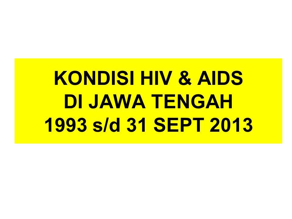 KONDISI HIV & AIDS DI JAWA TENGAH 1993 s/d 31 SEPT 2013