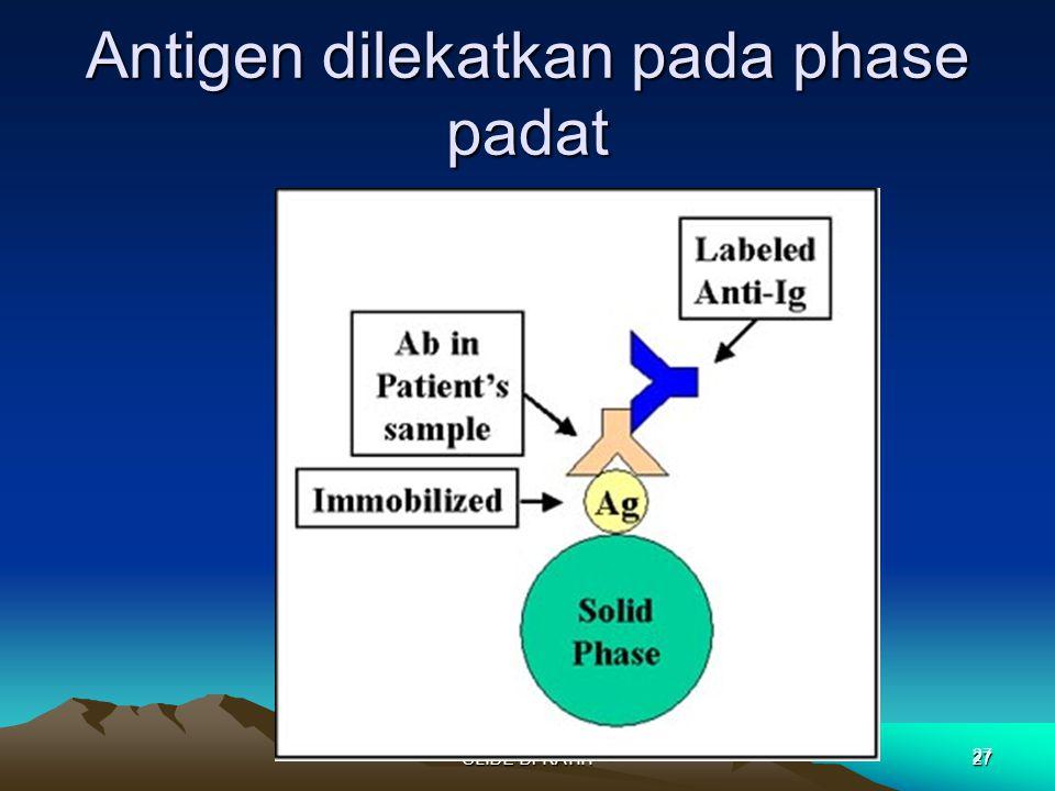 SLIDE Dr RATIH27 Antigen dilekatkan pada phase padat 27