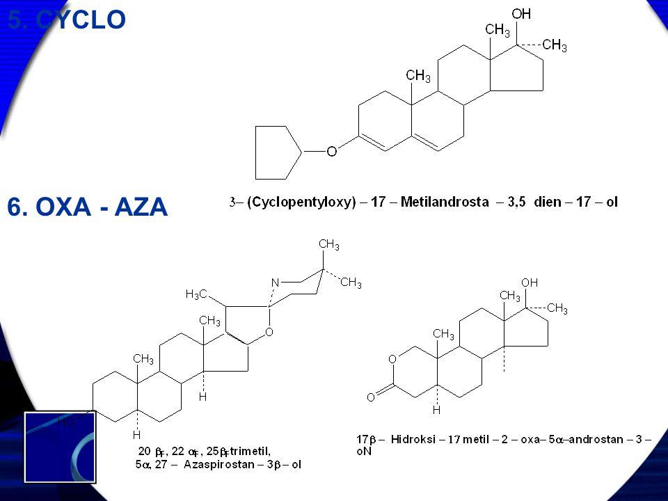 5. CYCLO 6. OXA - AZA