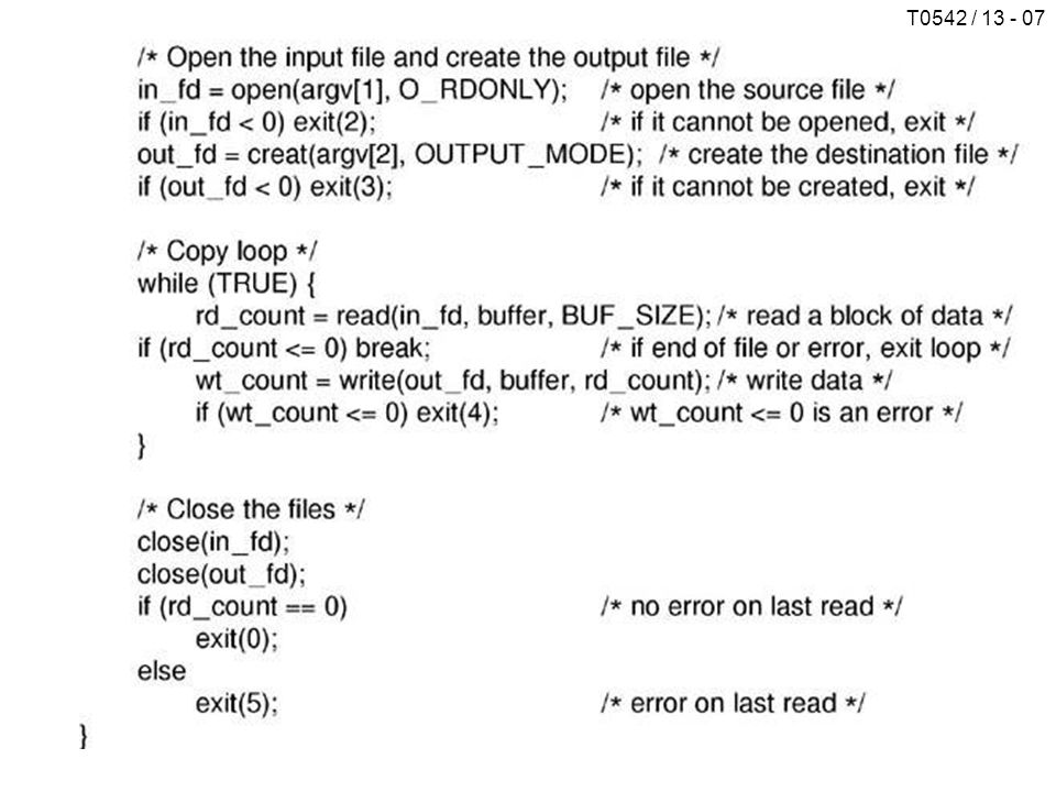 T0542 / 13 - 08 Memory-Mapped Files (a) Proses sebelum mapping (b) Proses setelah mapping (copy abc into xyz) DIREKTORI Single-Level Directory Systems