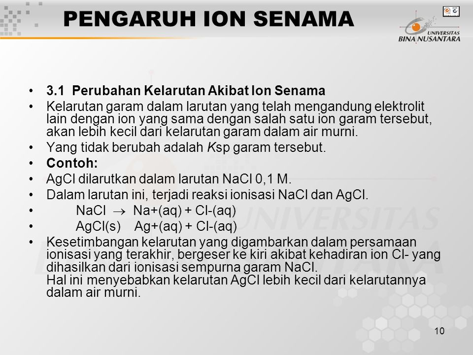 11 Contoh : Catatan : Ksp tetap (pada suhu tertentu), kelarutan bisa berubah, bergantung pada ion-ion yang hadir dalam larutan.