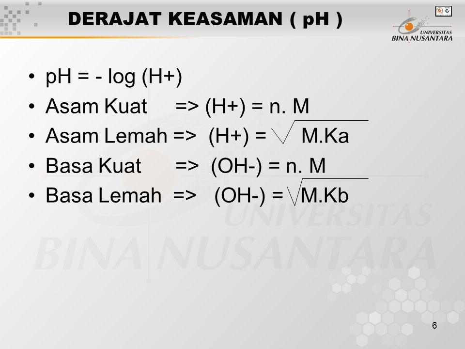7 > 1.Kelarutan ( s ) 2.Hasil Kali Kelarutan (KSp) 3.Pengaruh ion senama terhadap kelarutan 4.Pengaruh pembentukan kompleks pada kelarutan