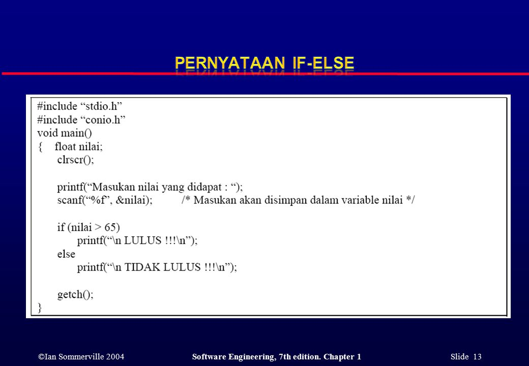 ©Ian Sommerville 2004Software Engineering, 7th edition. Chapter 1 Slide 13