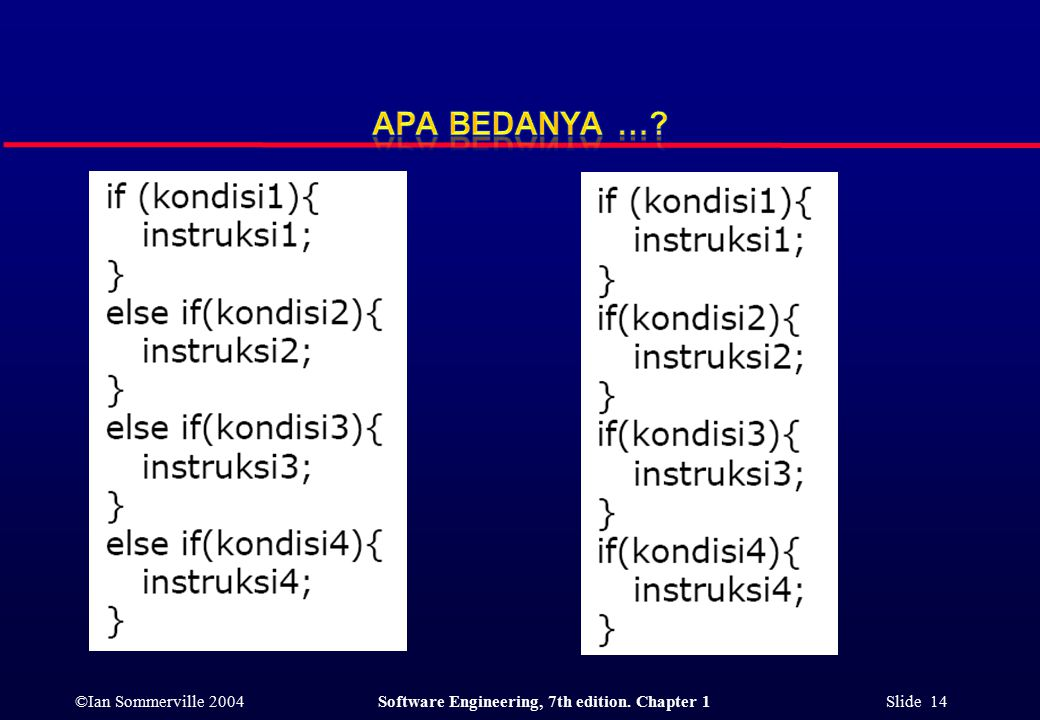 ©Ian Sommerville 2004Software Engineering, 7th edition. Chapter 1 Slide 14