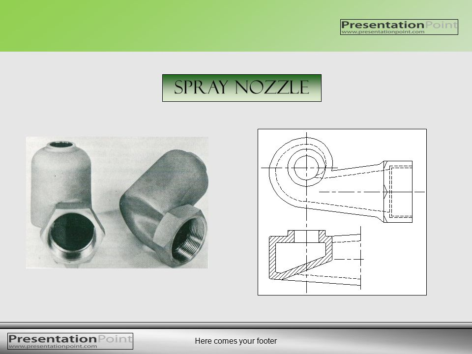 Here comes your footer Spray Nozzle