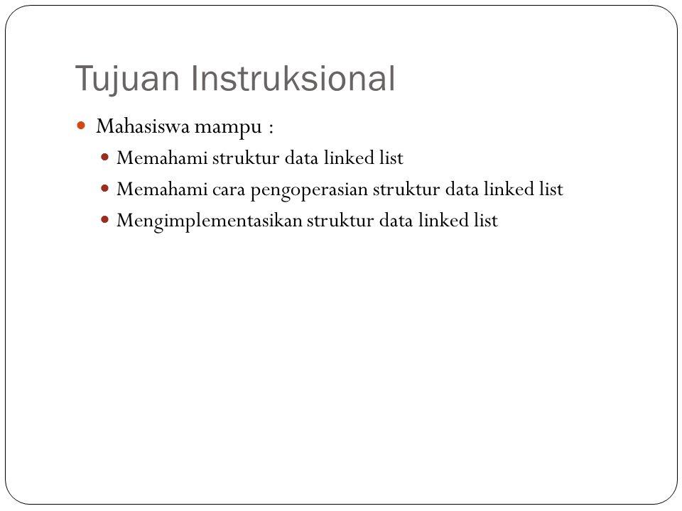 List Linear : Linked List (Single Linkedlist) Struktur Data