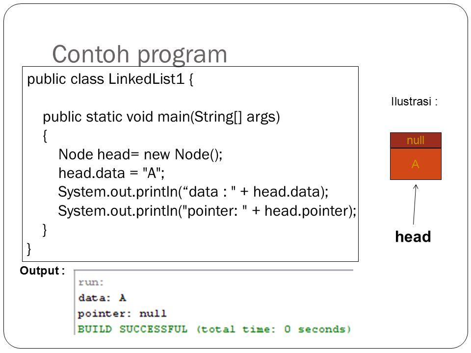 """Pengisian Data pada Field Untuk mengisikan data pada field digunakan operator assigment (=). Contoh : memberikan data """"A"""" pada head perintahnya adalah"""