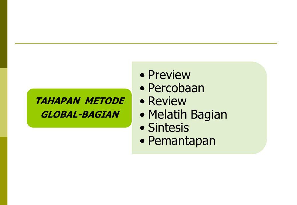 Preview Percobaan Review Melatih Bagian Sintesis Pemantapan TAHAPAN METODE GLOBAL-BAGIAN