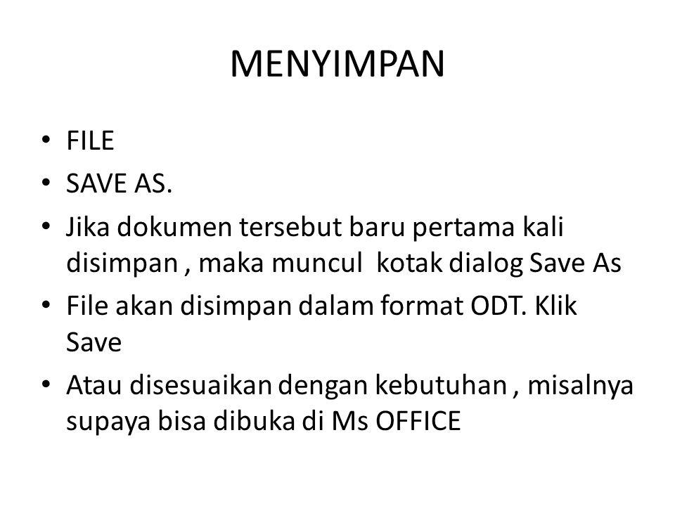 MENYIMPAN FILE SAVE AS.
