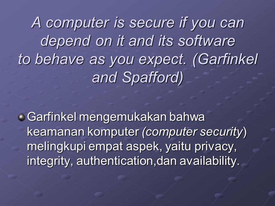 Tindakan terhadap ancaman (Countermeasures–Computer-Based Controls) Authorisasi (Authorization) View Back-up dan Recovery IntegrityEncryption RAID Technology