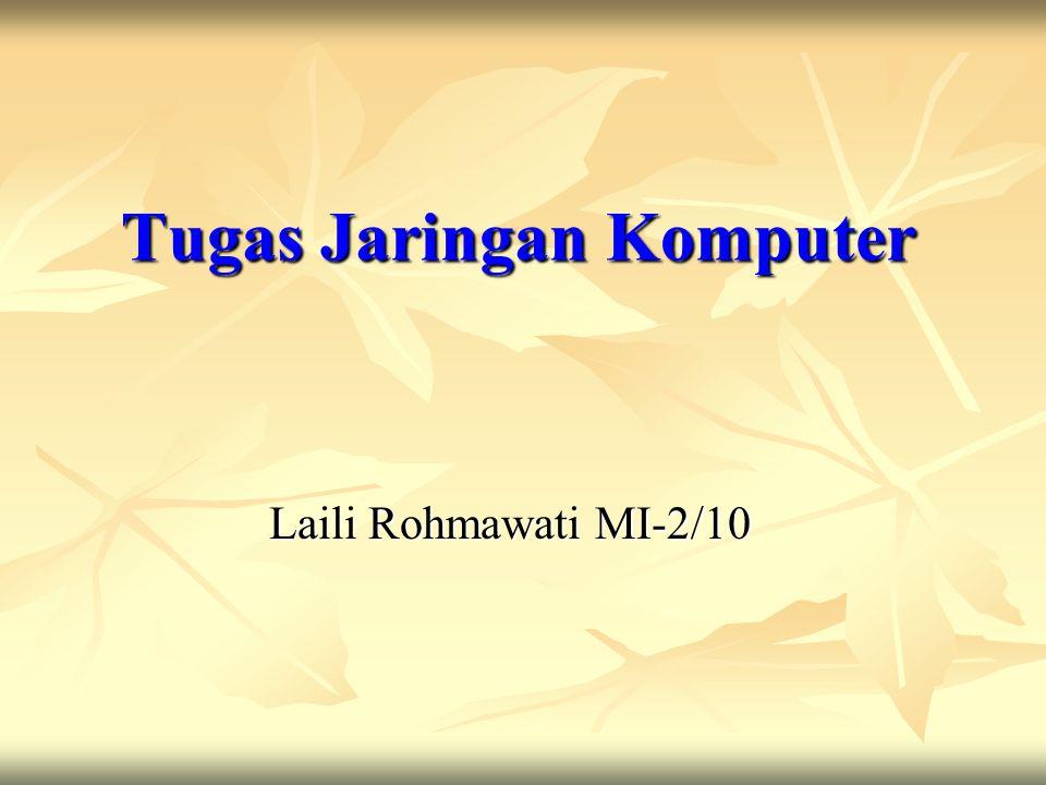 Tugas Jaringan Komputer Laili Rohmawati MI-2/10