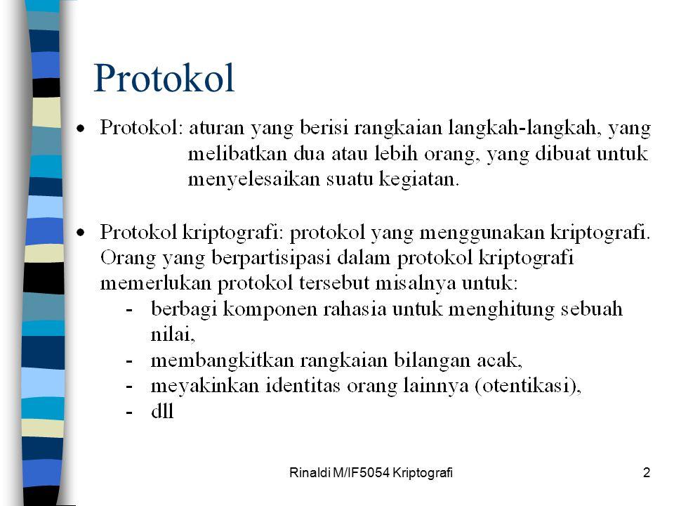 Rinaldi M/IF5054 Kriptografi2 Protokol