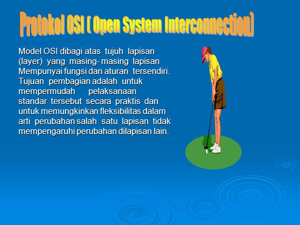 Tugas protokol OSI : Tugas protokol OSI :  Koordinasi dari berbagai macam kegiatan seperti komunikasi antar proses.
