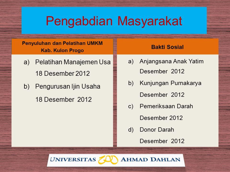 Pengabdian Masyarakat Penyuluhan dan Pelatihan UMKM Kab.