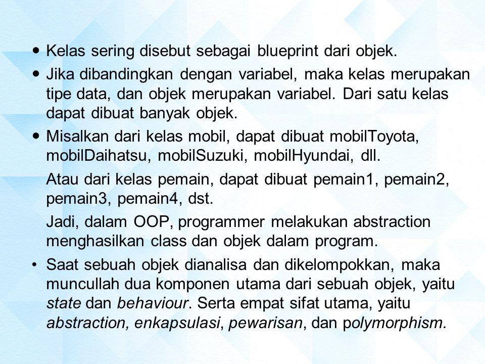 Analogi Class : Pohon Object