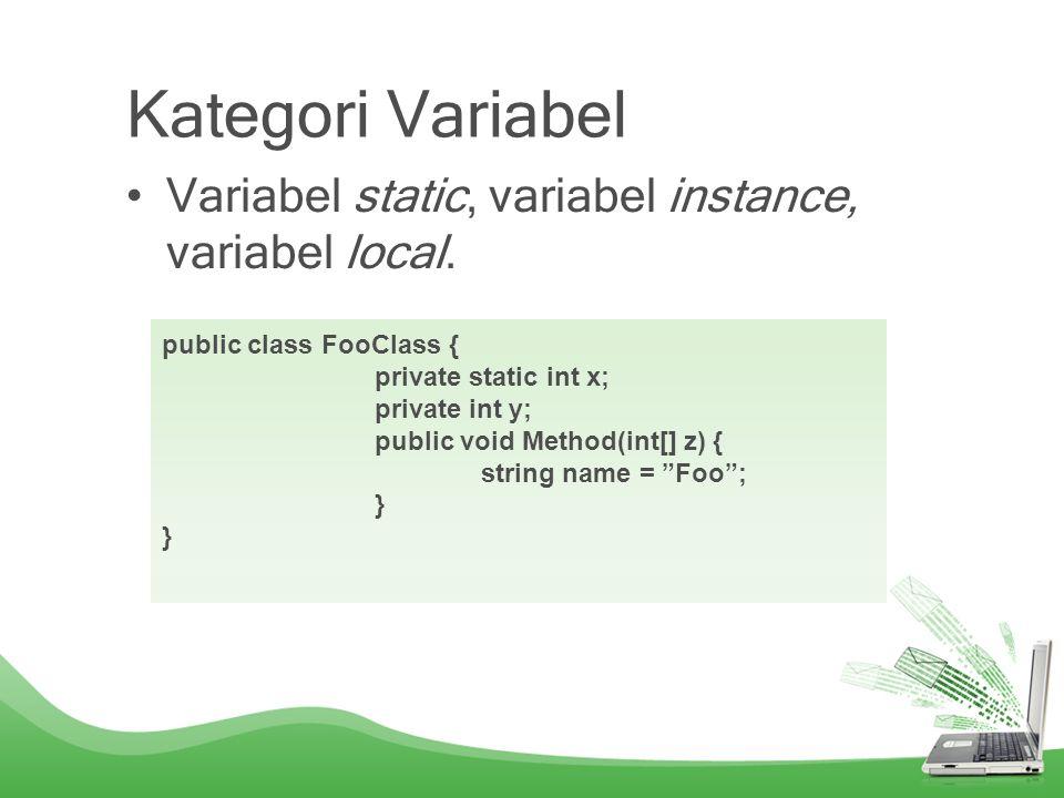 Parameter Value paramater, ouput parameter dan reference parameter.