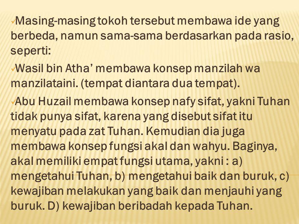  Tokoh an-Nazam menolak pendapat bahwa al-Qur'an mengandung mu'jizat secara bahasa.