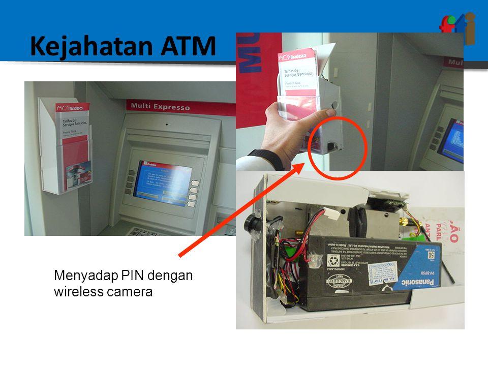 Kejahatan ATM Menyadap PIN dengan wireless camera