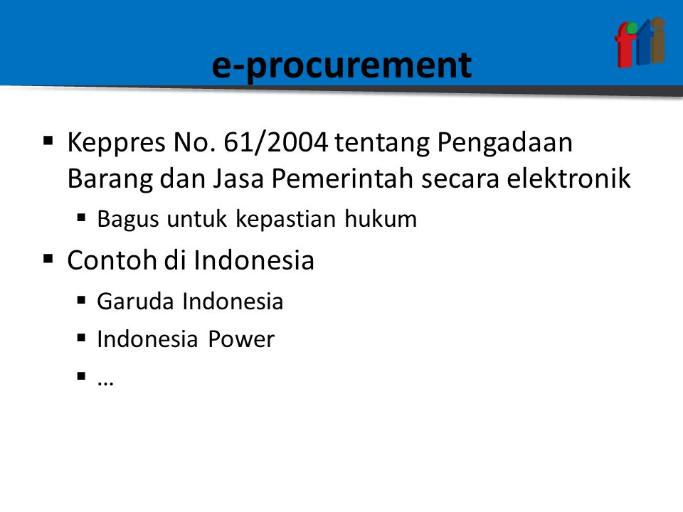 e-procurement  Keppres No.