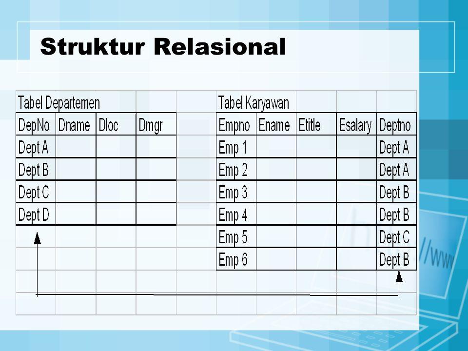 Struktur Relasional