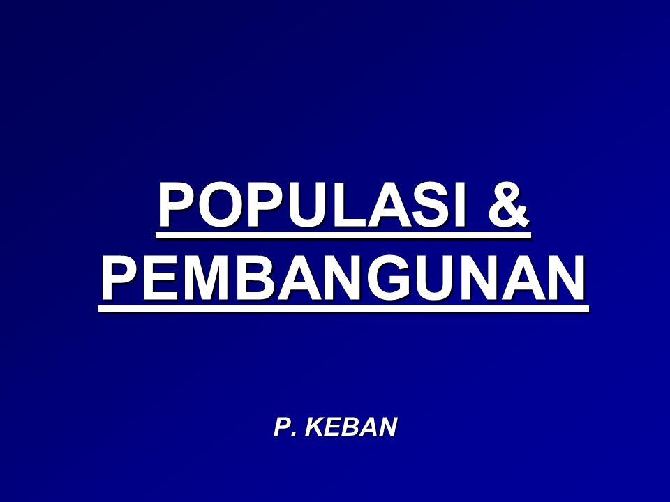 POPULASI & PEMBANGUNAN P. KEBAN