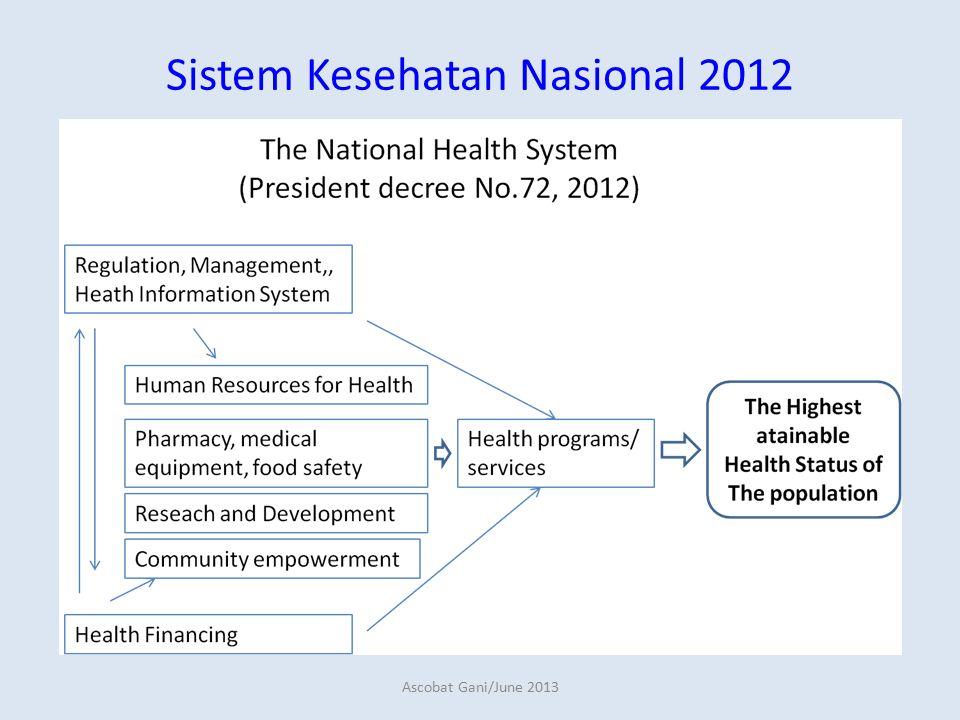 Sistem Kesehatan Nasional 2012 Ascobat Gani/June 2013