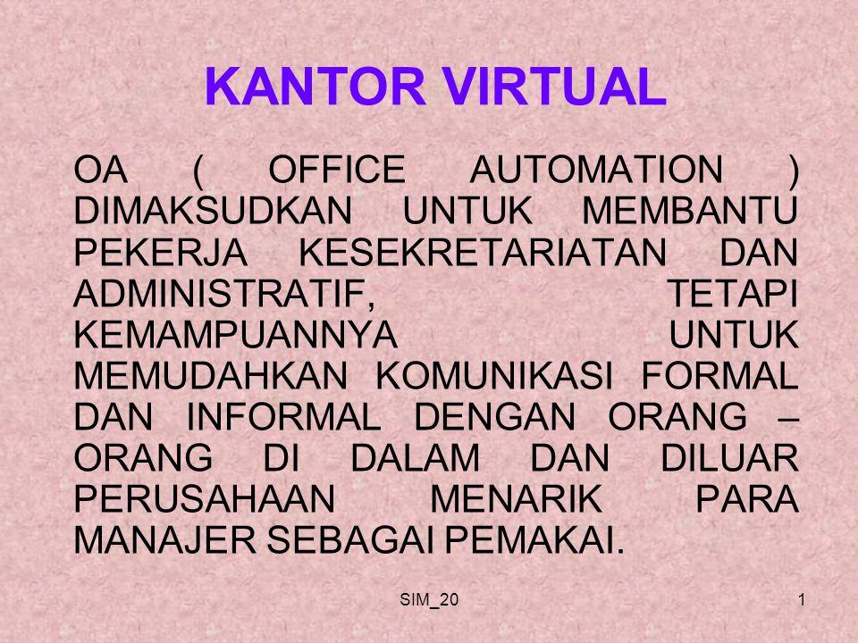 SIM_2012 APLIKASI OA BERFOKUS PADA INTI PEMECAHAN MASALAH BISNIS.