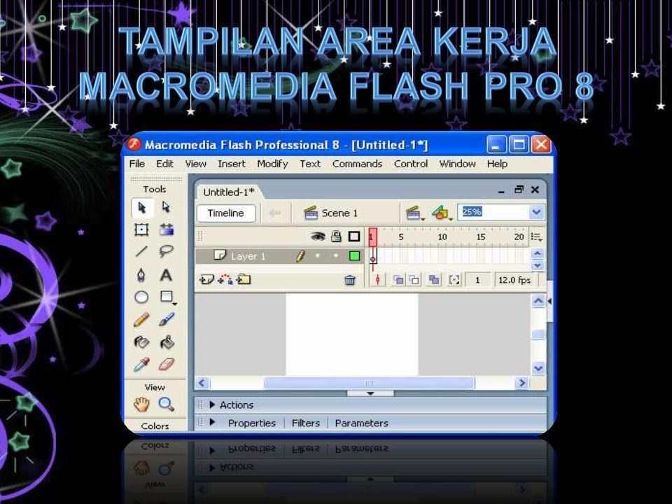 Beberapa panel penting dalam Macromedia Flash Pro 8 diantaranya : Panel Properties & Filters & Parameters, Actions, Library, Color Align & Info & Transform.
