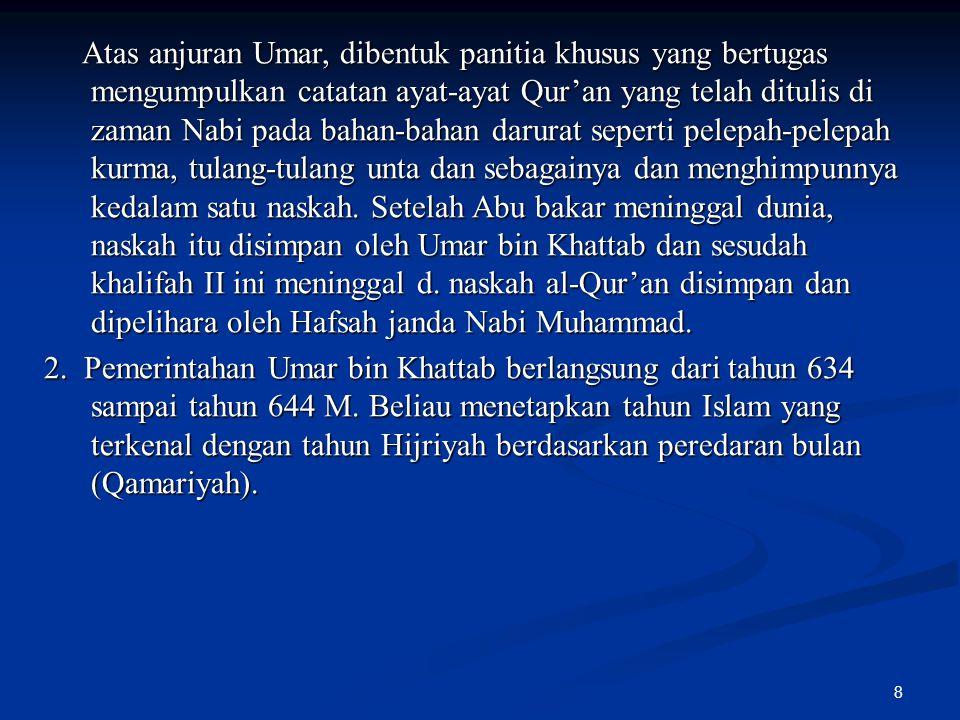 9 contoh-contoh ijtihad Umar : contoh-contoh ijtihad Umar : Talak tiga yang diucapkan sekaligus disuatu tempat pada suatu ketika, dianggap talak yang tidak mungkin rujuk (kembali) sebagai suami istri.