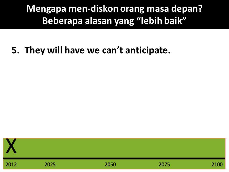 """5.They will have we can't anticipate. Mengapa men-diskon orang masa depan? Beberapa alasan yang """"lebih baik"""""""