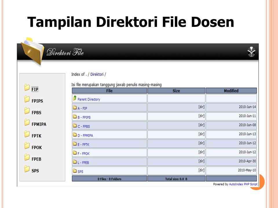 Tampilan Direktori File Dosen
