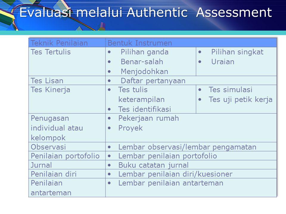 Evaluasi melalui Authentic Assessment