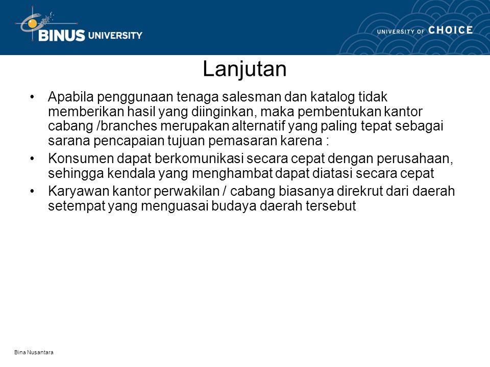 Bina Nusantara PERBEDAAN ANTARA PERWAKILAN DENGAN CABANG